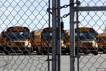 The four bus yards, including the one off Freeport Street in Dorchester, were padlocked. The strike rippled far beyond Boston's system, affecting charter, parochial, and many private schools that rely on the yellow buses.